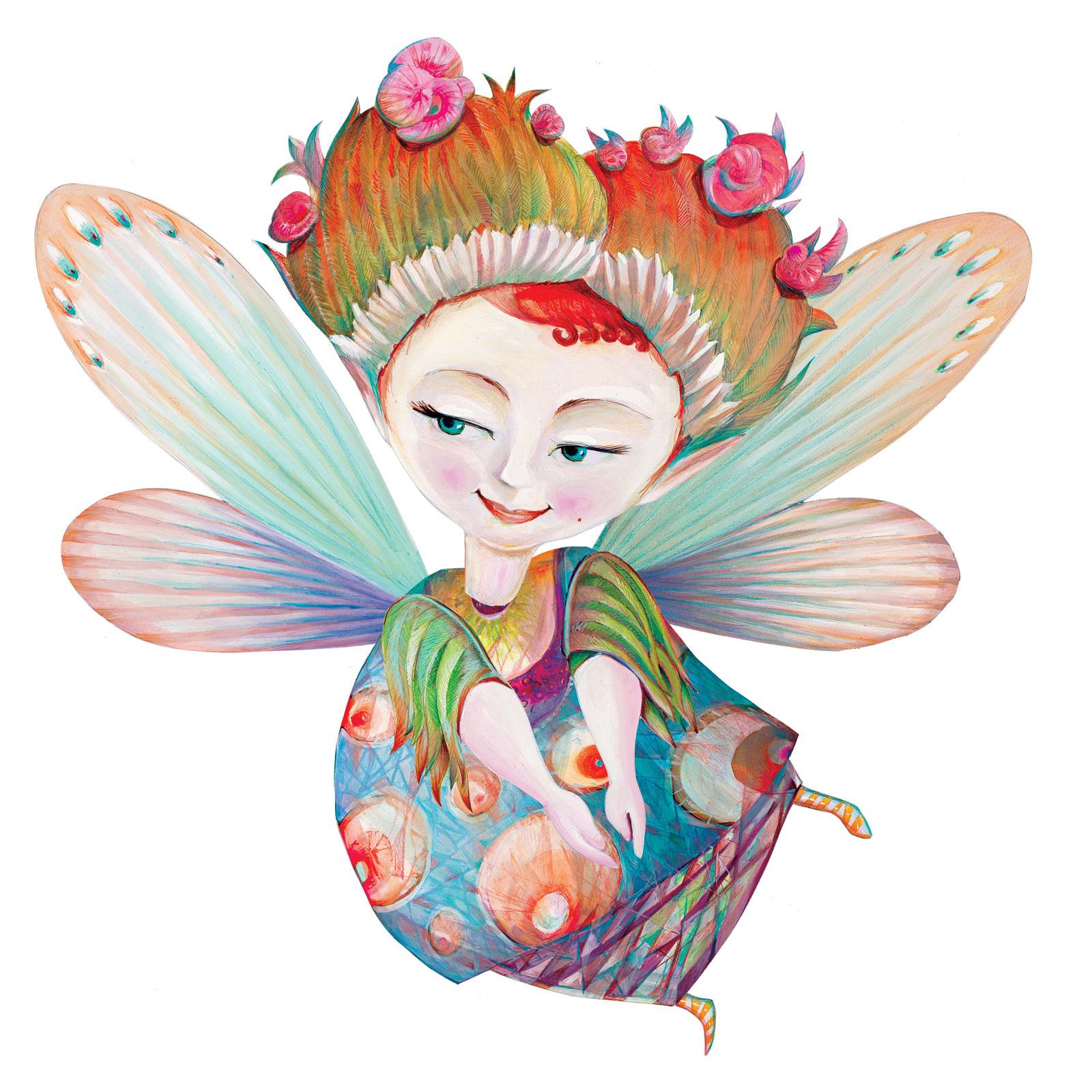 Wall Decoration Figure 'Chloe' - Wooden Fairies | SVOORA on