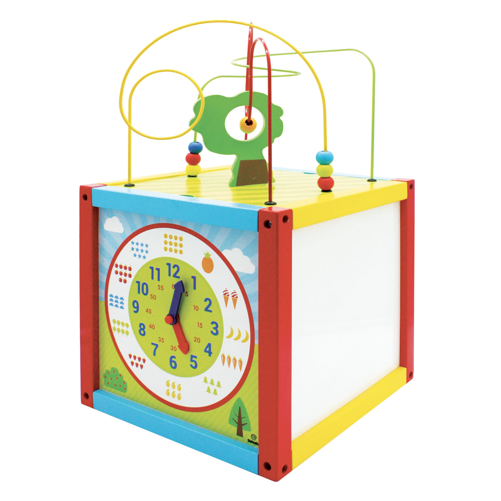 Wooden Multi Activity Cube With Prewriting Excercises Svoora